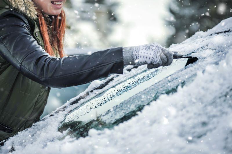 icy windshields