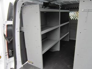 Custom work can shelving units